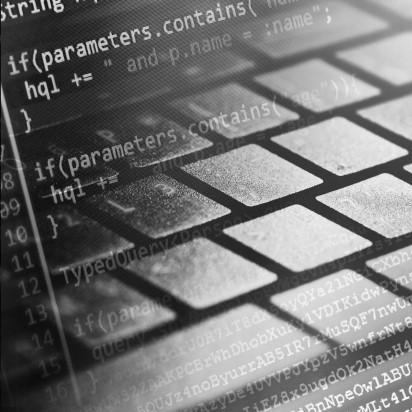 Computer programering. Dekorations billede - Computer Tastatur