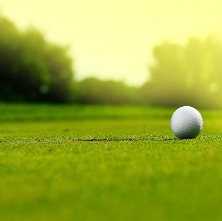 Golf. Dekorations billede - Goldbane - Golfbold