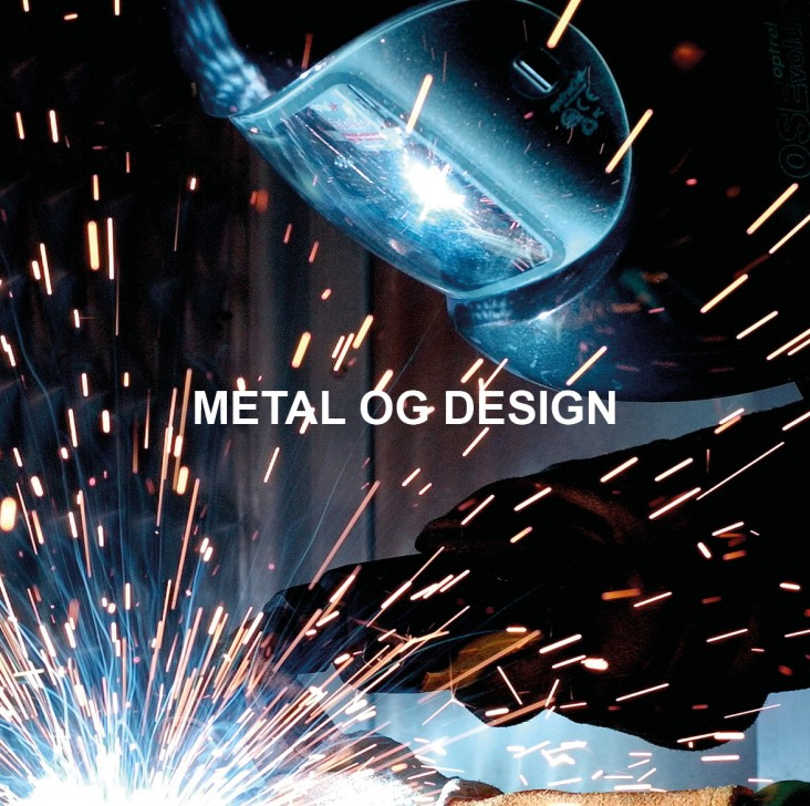 Metal og design. Dekorations billede - Teenagerdreng svejser